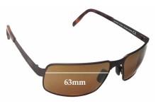Maui Jim Castaway MJ187 Replacement Sunglass Lenses - 63mm Wide