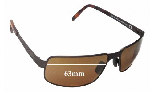 Maui Jim Castaway MJ187 Replacement Sunglass Lenses - 63mm Wide