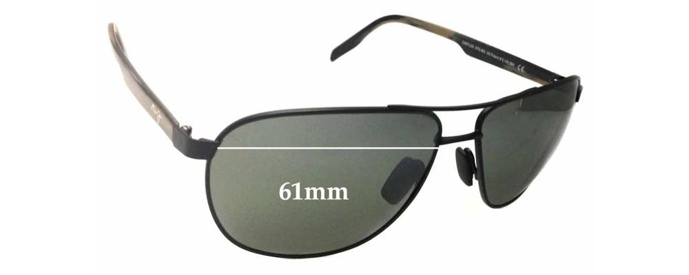 Maui Jim Castles MJ728 Replacement Sunglass Lenses - 61mm wide