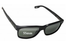 Maui Jim Eh Brah MJ284 Replacement Sunglass Lenses - 55mm Wide