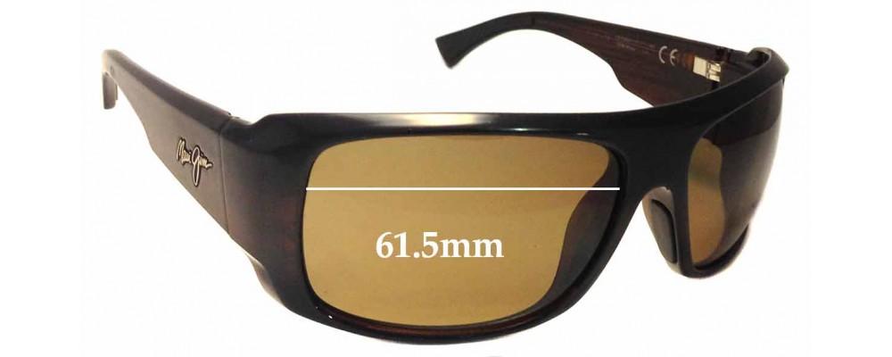 Maui Jim Five Caves MJ283 Replacement Sunglass Lenses - 61.5mm Wide