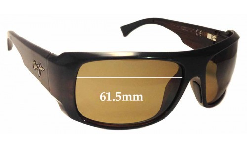 Maui Jim Five Caves MJ283 Replacement Sunglass Lenses - 61.5mm Wide
