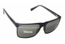 Maui Jim Flat Island MJ705 Replacement Sunglass Lenses - 58mm Wide
