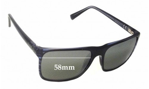 Maui Jim Flat Island MJ705 Replacement Sunglass Lenses - 58mm Wide