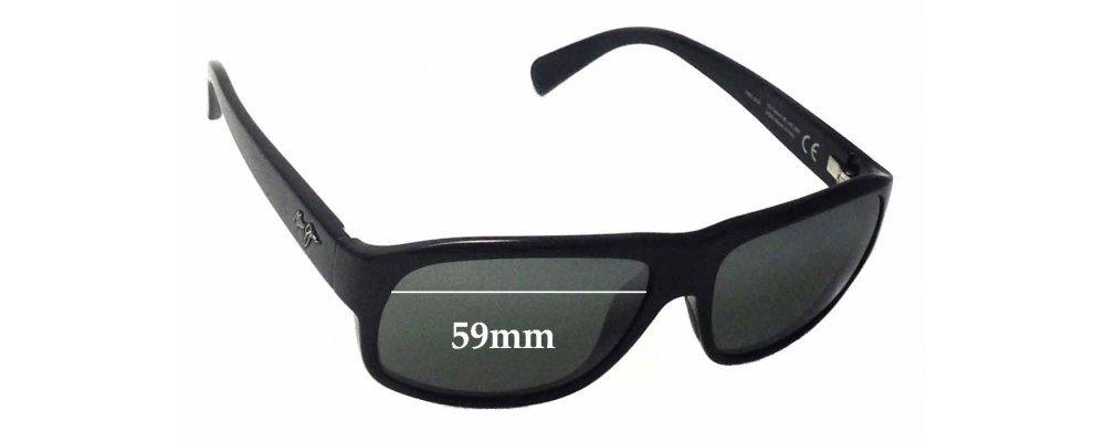 Maui Jim Free Dive MJ200 Replacement Sunglass Lenses - 59mm wide