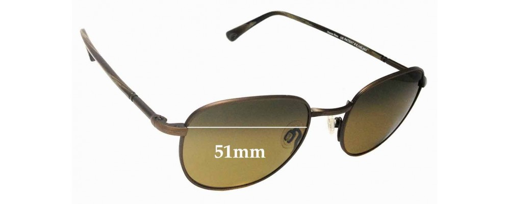 Maui Jim Hana Hou MJ292 Replacement Sunglass Lenses - 51mm Wide