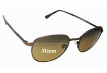 Maui Jim Hana Hou MJ292 Replacement Sunglass Lenses - 51mm Wide