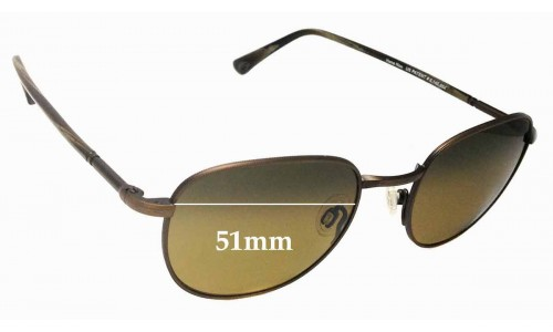 Sunglass Fix Replacement Lenses for Maui Jim Hana Hou MJ292 - 51mm Wide