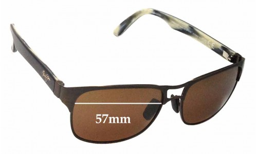 Maui Jim Hang 10 MJ296 Replacement Sunglass Lenses - 57mm Wide