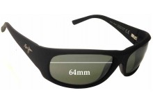 Sunglass Fix Replacement Lenses for Maui Jim Ikaika MJ281 - 64mm Wide