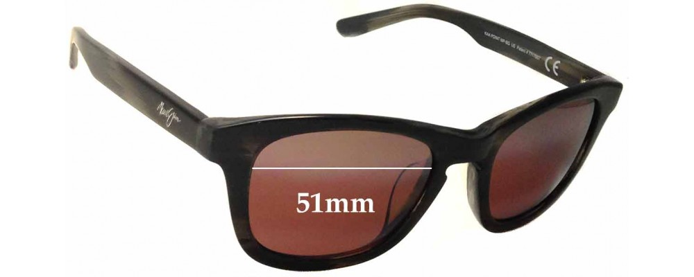 Maui Jim Kaa Point MJ713 Replacement Sunglass Lenses - 51mm Wide
