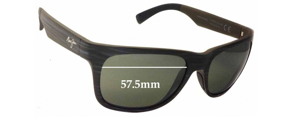 0ca24abf66aa Maui Jim Kahi MJ736 Replacement Lenses 57.5mm Wide by The Sunglass Fix™
