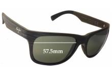 Maui Jim Kahi MJ736 Replacement Sunglass Lenses - 57.5mm Wide