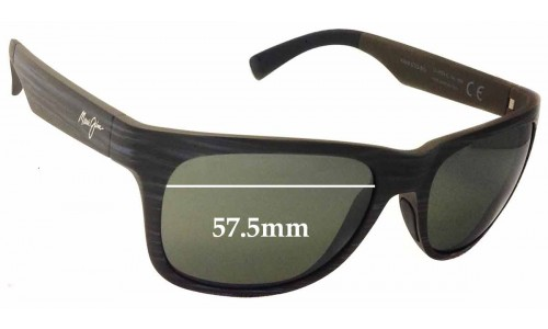 Maui Jim Kahi MJ736 Replacement Sunglass Lenses - 57.5mm Wide