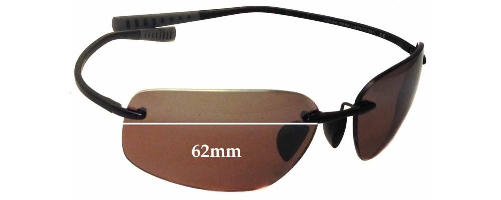 Maui Jim Kapuna MJ742 Replacement Sunglass Lenses - 62mm Wide