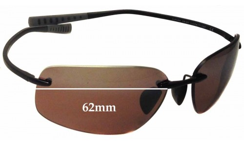 Maui Jim Kapuna MJ742 Replacement Sunglass Lenses - 62mm Wide