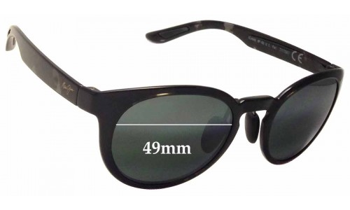 Maui Jim Keanae MJ420 Replacement Sunglass Lenses - 49mm wide