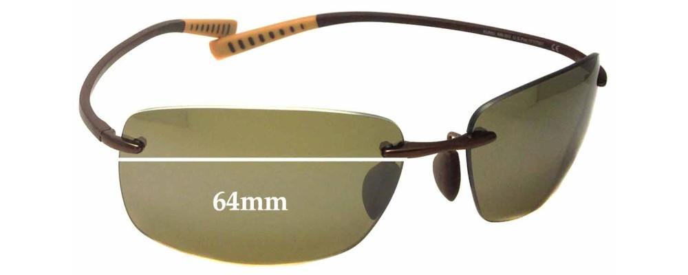 Maui Jim Kumu MJ724 Replacement Sunglass Lenses - 64mm wide