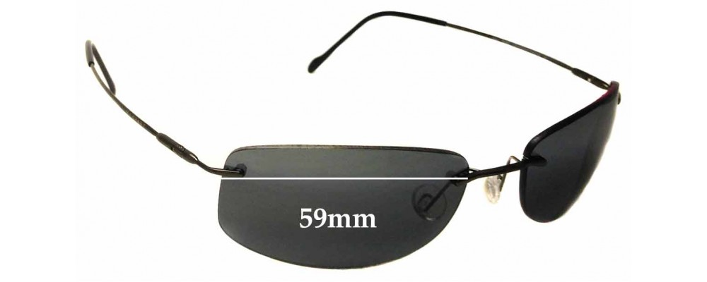 Maui Jim Lahaina MJ450 Replacement Sunglass Lenses - 59mm Wide