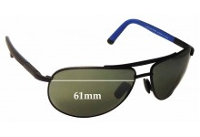 Maui Jim Leeward Coast MJ297 Replacement Sunglass Lenses - 61mm Wide