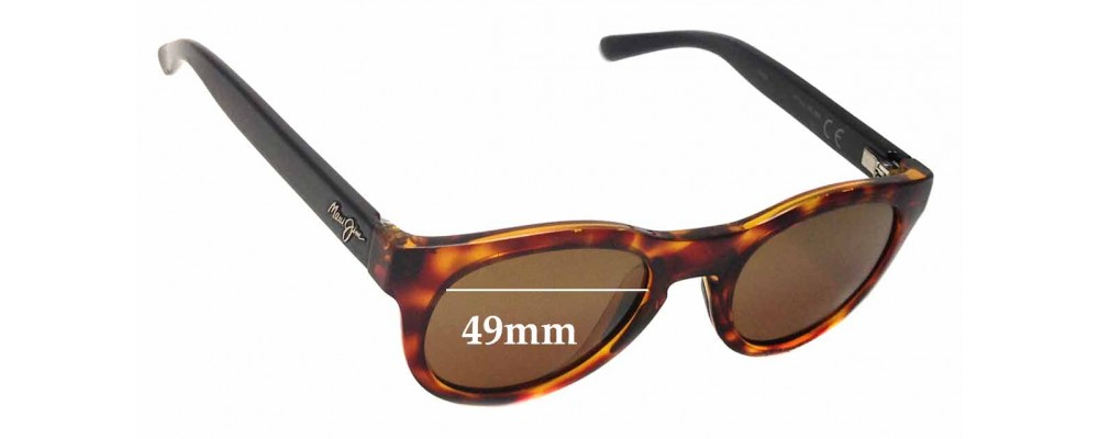 Maui Jim Liana MJ287 Replacement Sunglass Lenses - 49mm wide