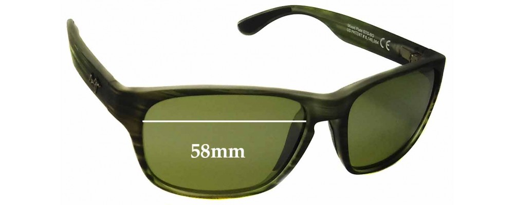 Maui Jim Mixed Plate MJ721 Replacement Sunglass Lenses - 58mm Wide