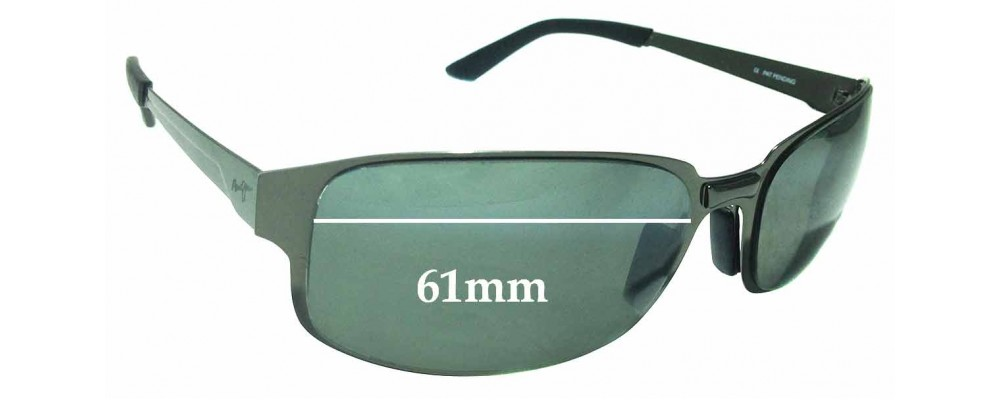 Sunglass Fix Replacement Lenses for Maui Jim MJ-505-02 - 61mm wide