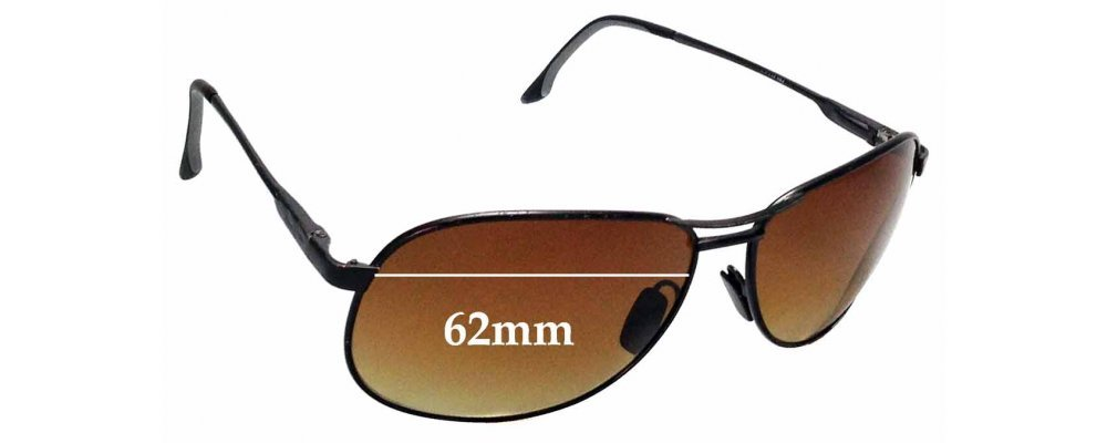 Sunglass Fix Replacement Lenses for Maui Jim 117 Akoni - 62mm Wide
