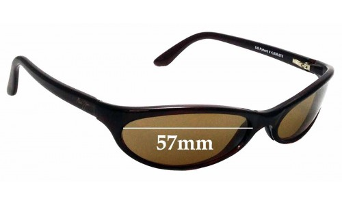 Sunglass Fix Replacement Lenses for Maui Jim 126 Riptide - 57mm Wide