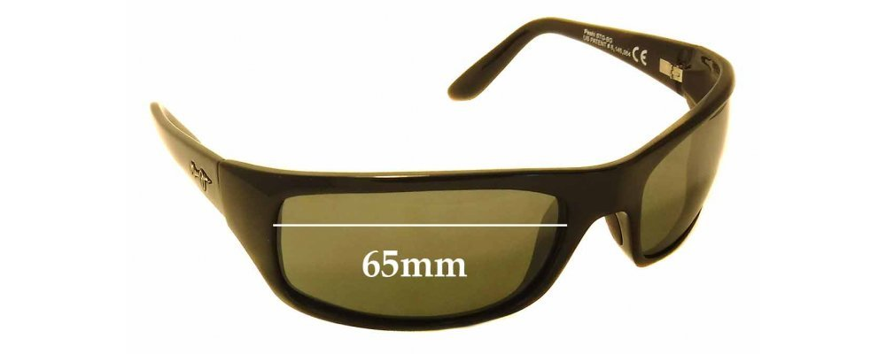 ac28f70964 Maui Jim Peahi STG-BG MJ202 Replacement Sunglass Lenses - 65mm Wide