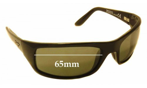 Maui Jim Peahi STG-BG MJ202 Replacement Sunglass Lenses - 65mm Wide