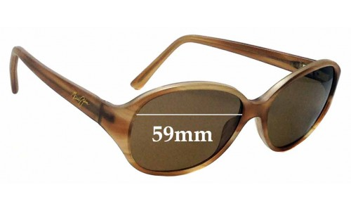 Sunglass Fix Replacement Lenses for Maui Jim MJ221 - 59mm Wide