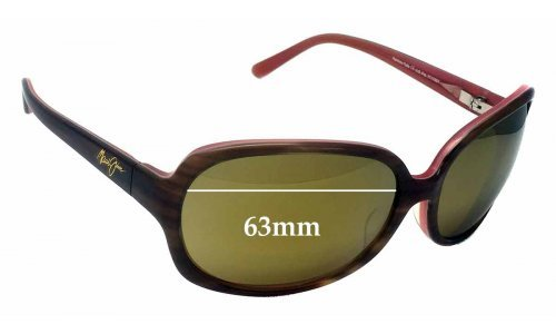 Maui Jim Rainbow Falls MJ225 Replacement Sunglass Lenses - 63mm Wide