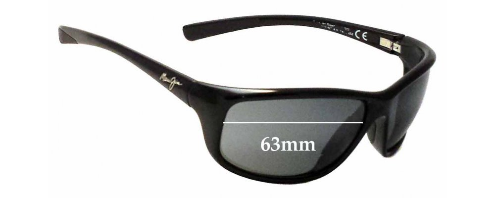 22b35340b8 Maui Jim MJ278 Spartan Reef Replacement Lenses 63mm by The Sunglass Fix®