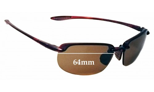 Maui Jim Ho'okipa MJ407N Replacement Sunglass Lenses - 64mm Wide