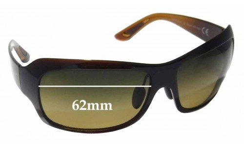 Maui Jim MJ418 Seven Pools Replacement Sunglass Lenses - 62mm Wide