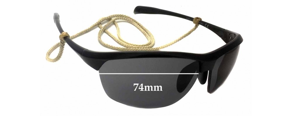 Maui Jim Middles MJ428 Replacement Sunglass Lenses - 74mm wide