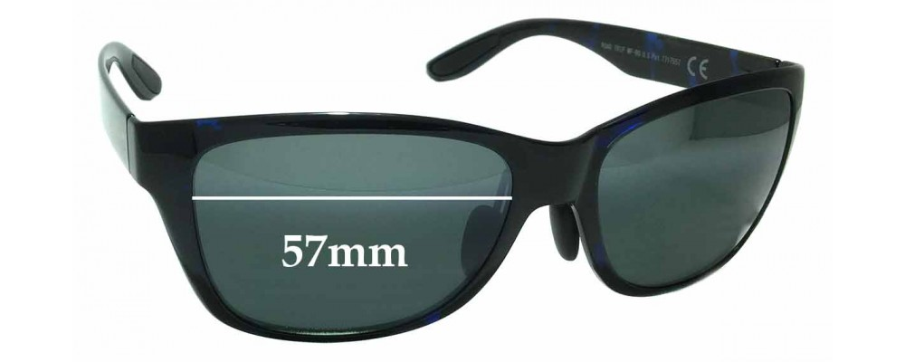 Maui Jim MJ435 Road Trip MP-BG Replacement Sunglass Lenses - 57mm Wide