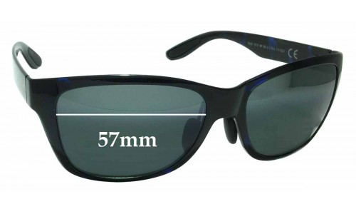 Maui Jim MJ435 Road Trip MP-BG Replacement Sunglass Lenses - 57mm Wide