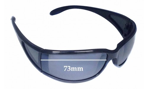 Sunglass Fix Replacement Lenses for Maui Jim Offshore MJ444 - 73mm Wide