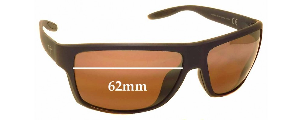 Maui Jim MJ528 Pohaku MP-BG Replacement Sunglass Lenses - 62mm Wide