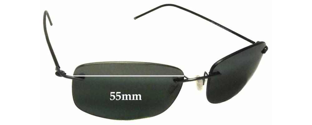 Maui Jim MJ718 Myna Replacement Sunglass Lenses - 55mm wide