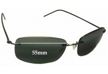 Maui Jim MJ718 Myna Replacement Sunglass Lenses - 55mm wide