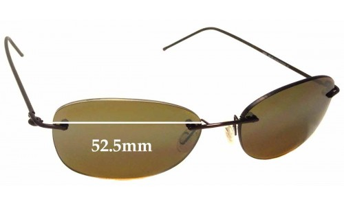 Maui Jim MJ719 NENE Replacement Sunglass Lenses - 52.5mm wide