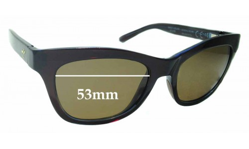 Sunglass Fix Replacement Lenses for Maui Jim Sweet Leilani STG-BG MJ722 - 53mm wide