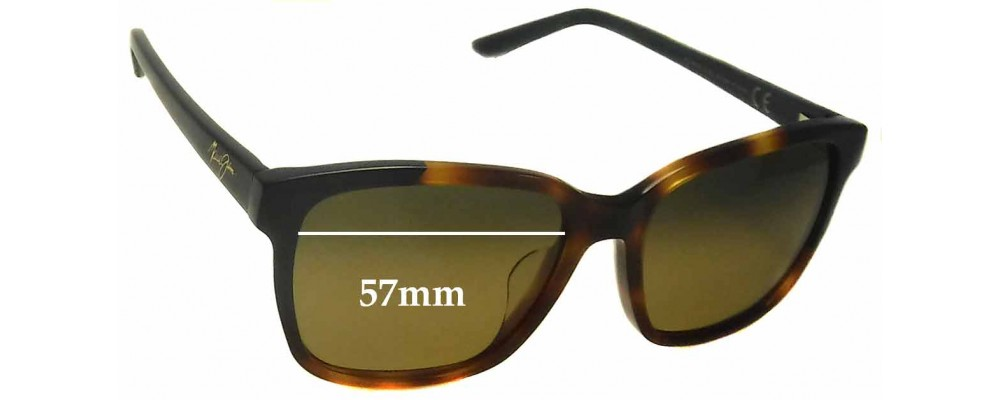 Maui Jim MJ726 Moonbow Replacement Sunglass Lenses - 57mm Wide