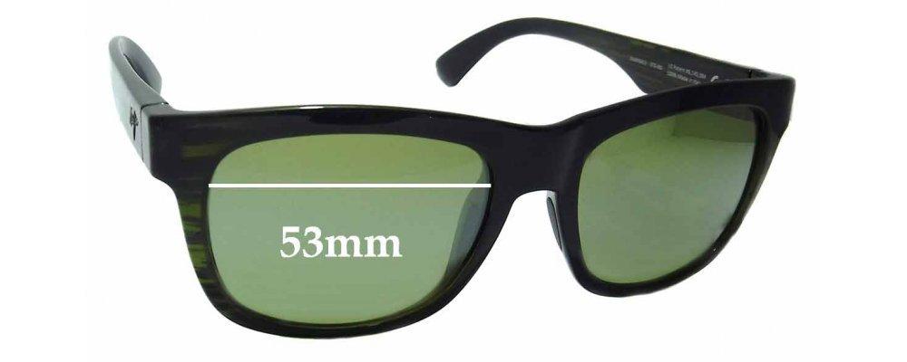 Maui Jim MJ730 Snapback STG-BG Replacement Sunglass Lenses - 53mm wide