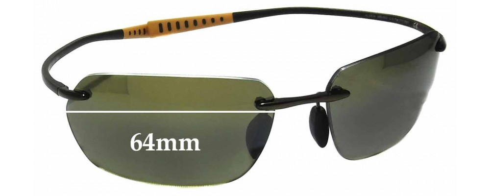 Maui Jim MJ743 Alakai MB-BG Replacement Sunglass Lenses - 64mm wide
