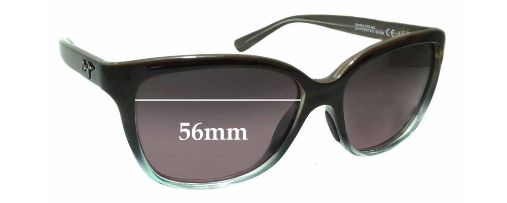 9c067e425b9ec Maui Jim MJ744 Starfish STG-SG Replacement Sunglass Lenses - 56mm wide