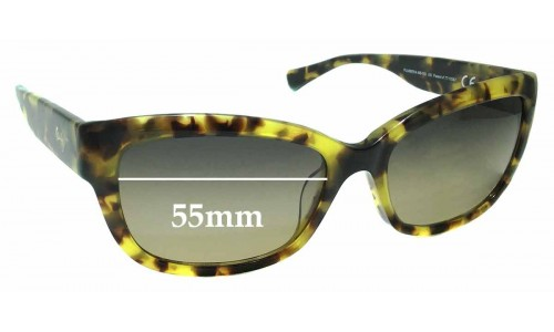 Maui Jim MJ768 Plumeria MB-SG Replacement Sunglass Lenses - 55mm Wide